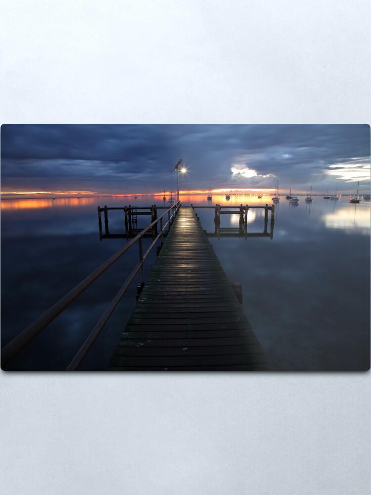 Alternate view of A Winter's Dawn on the Pier, Australia Metal Print