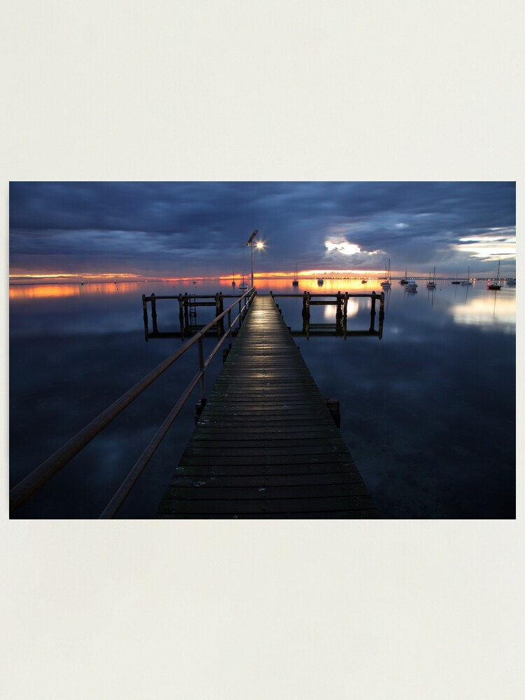 Alternate view of A Winter's Dawn on the Pier, Australia Photographic Print