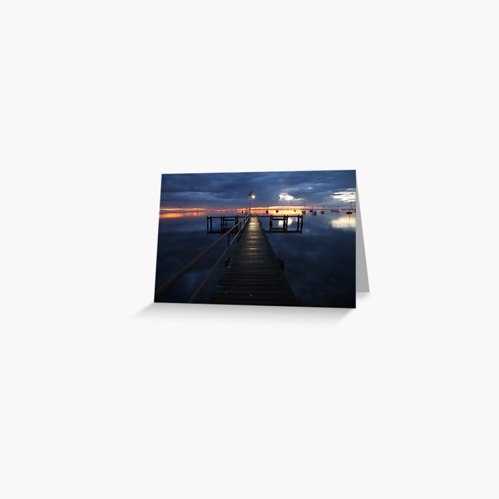 A Winter's Dawn on the Pier, Australia Greeting Card