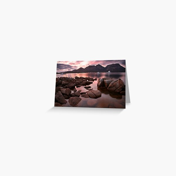 """New day dawns over """"The Hazards"""", Coles Bay, Tasmania Greeting Card"""