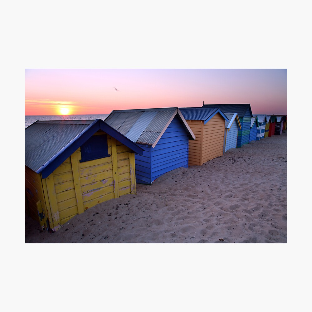 Brighton Beach Boxes, Australia Photographic Print