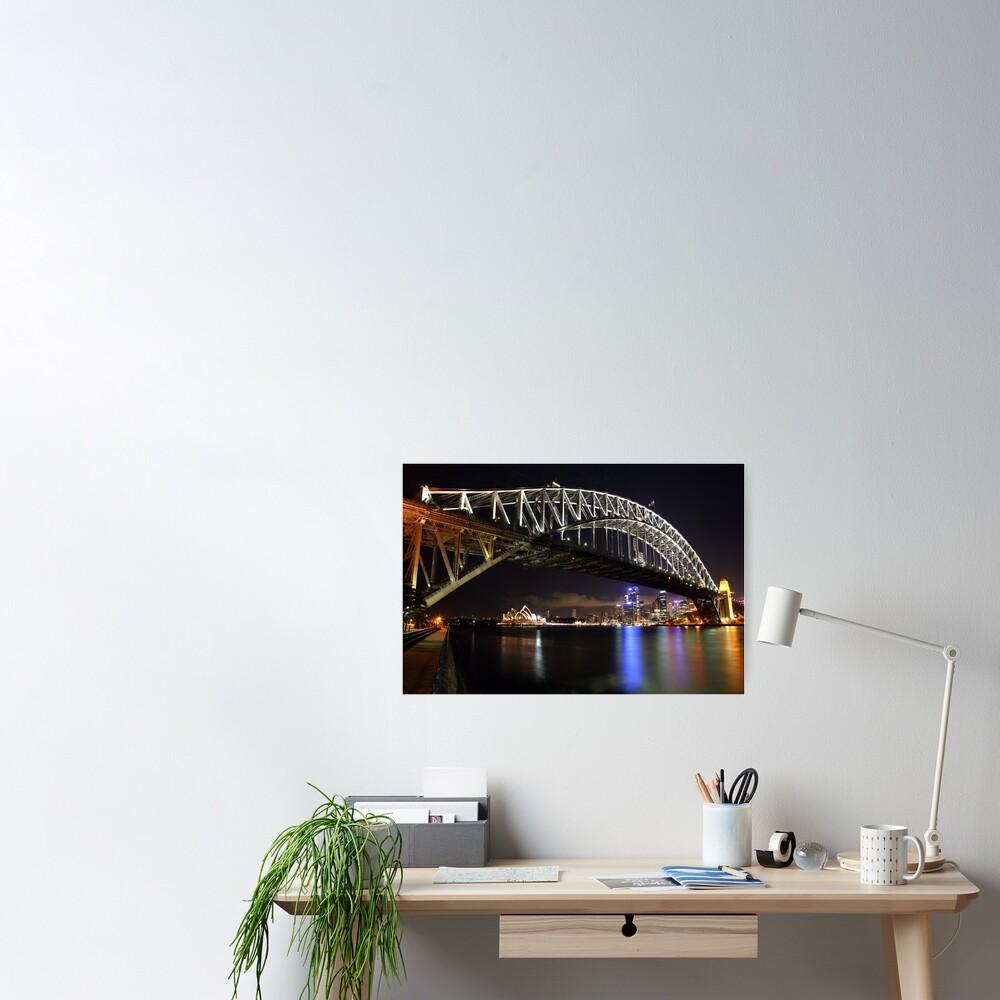 Sydney Harbour Bridge at Night, Australia Poster