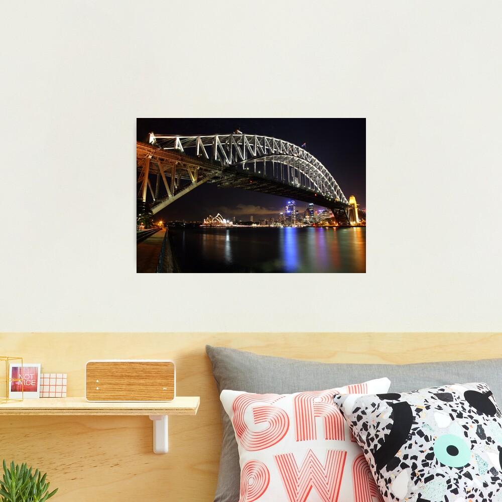Sydney Harbour Bridge at Night, Australia Photographic Print