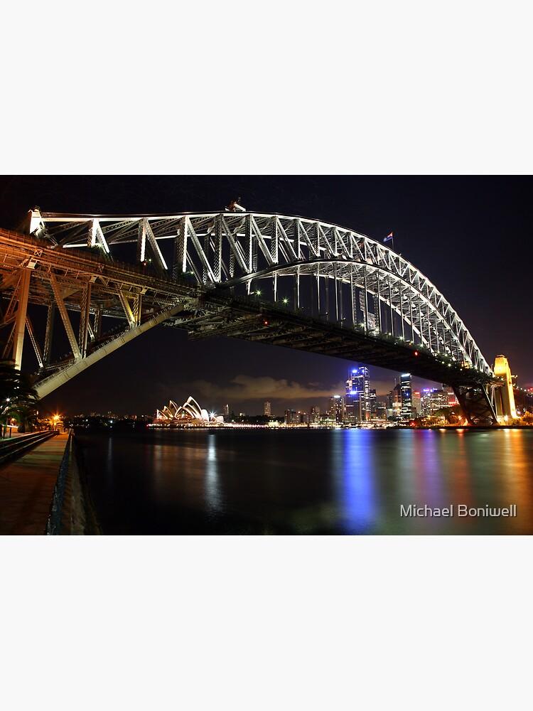Sydney Harbour Bridge at Night, Australia by Chockstone