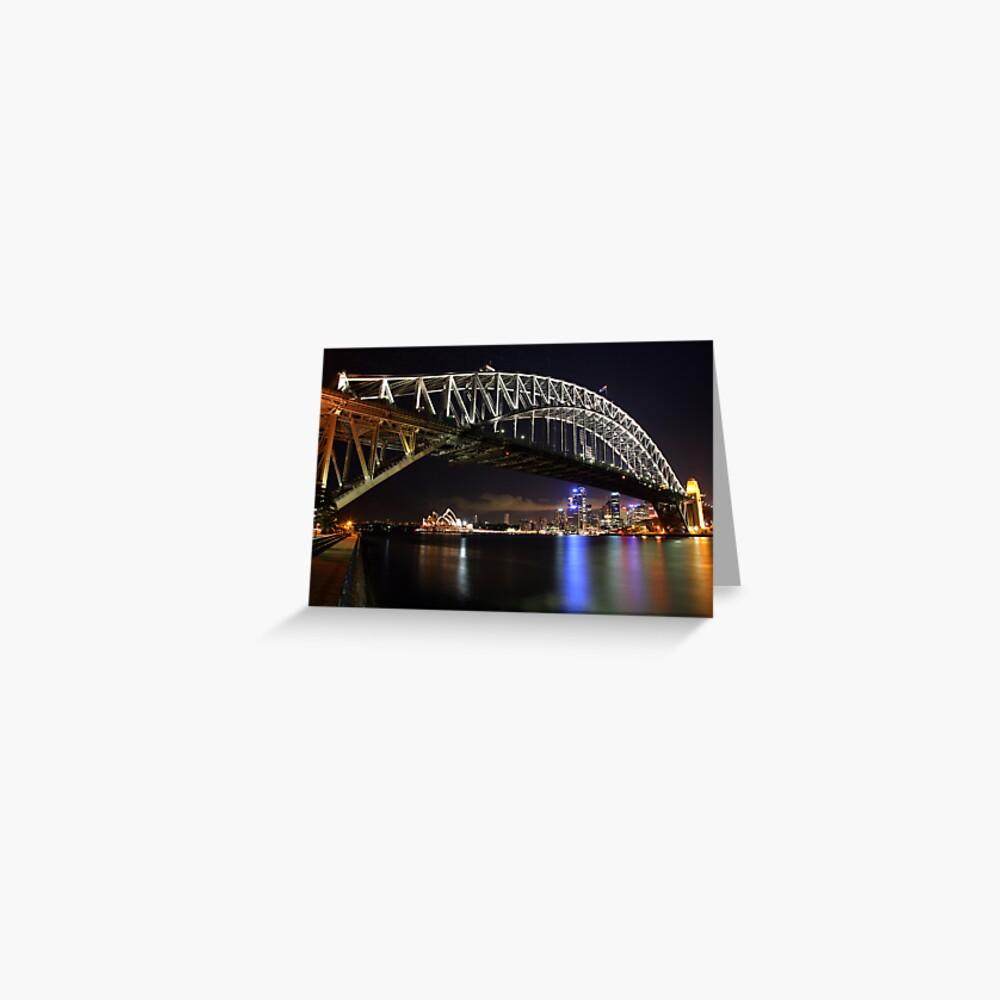Sydney Harbour Bridge at Night, Australia Greeting Card
