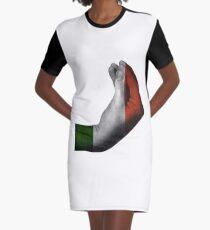 Italian Hand Gesture Graphic T-Shirt Dress