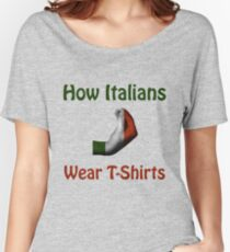 How Italians Wear T-Shirts - Hand gesture design Women's Relaxed Fit T-Shirt