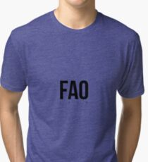 FAO - Faro Airport Code Tri-blend T-Shirt
