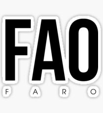 FAO - Faro Airport Code Sticker