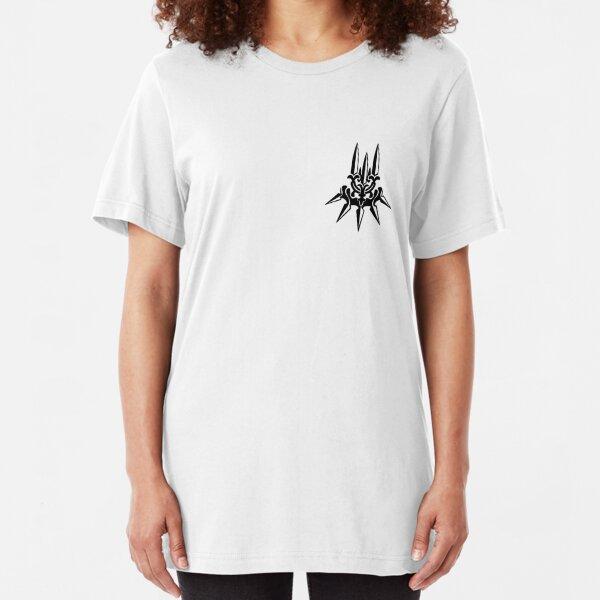 YoRHa - Black Insignia - Corner print Slim Fit T-Shirt