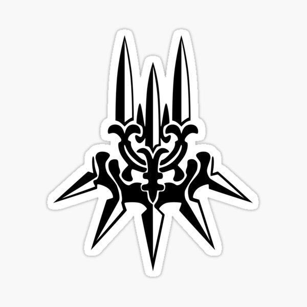 YoRHa - Black Insignia - Corner print Sticker