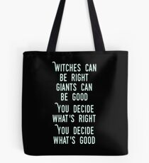 Into the Woods - Witches Can Be Good - Children will Listen Tote Bag