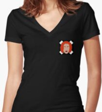 Agent X Women's Fitted V-Neck T-Shirt