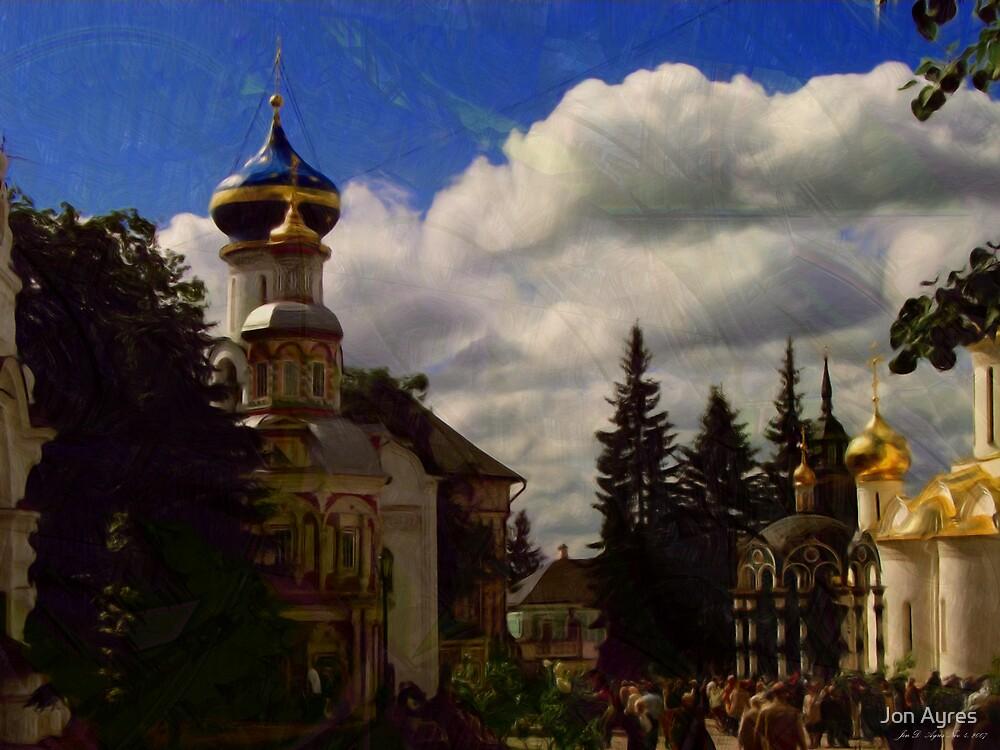 Inside View of Trinity Lavra of St. Sergius by Jon Ayres