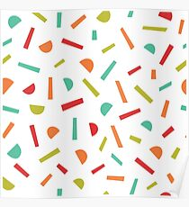 Simple memphis style pattern. Seamless abstract background.  Poster