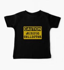 Caution Minifig Collector Sign  Baby Tee