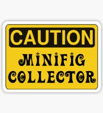 Caution Minifig Collector Sign  Sticker