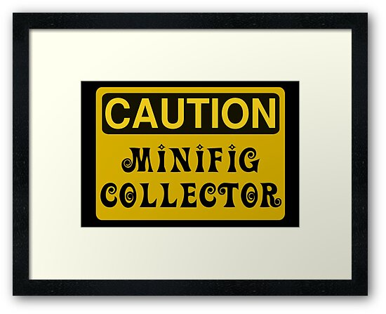 Caution Minifig Collector Sign  by Customize My Minifig