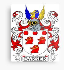 Barker Coat of Arms Metal Print