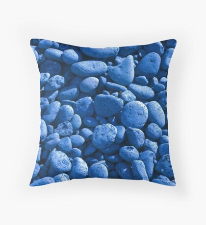The Blue Beach Throw Pillow