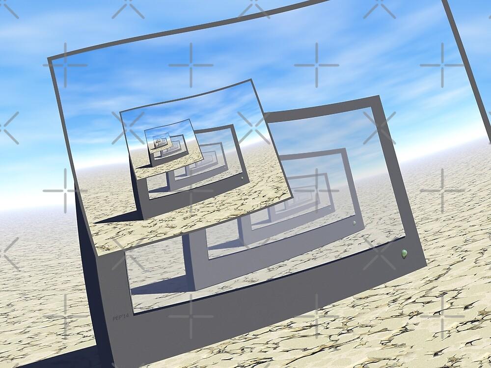 Surreal Monitors Infinite Loop by Phil Perkins