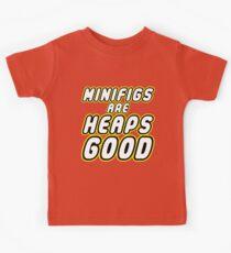 MINIFIGS ARE HEAPS GOOD Kids Tee