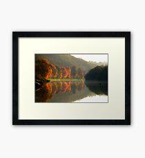 Reflets d'automne. Framed Print