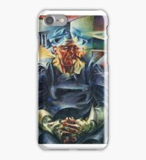 Horizontal Volumes Umberto Boccioni iPhone Case/Skin
