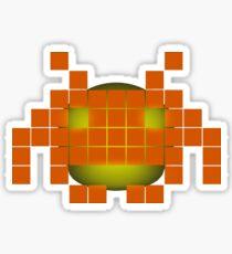 Orange Invader Sticker