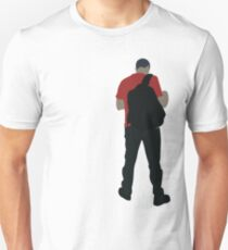 0026 Student waiting for the bus to university - object Unisex T-Shirt