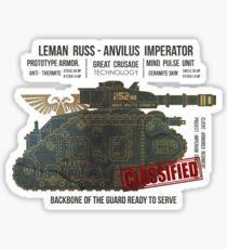 BLUEPRINT TEE - LEMAN RUSS 40K BONE GRUNGE Sticker