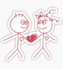 love doodle couple Sticker