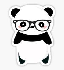 Nerdy Panda Bear Stickers Redbubble