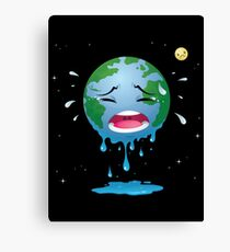 Crying Earth Canvas Print