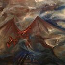 Dragon in Stormy Skies by 73seed