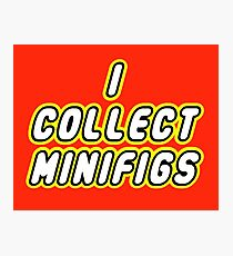 I COLLECT MINIFIGS  Photographic Print