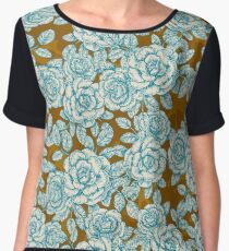 Vintage Roses Allover Chiffon Top