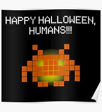 Halloween Invader Poster