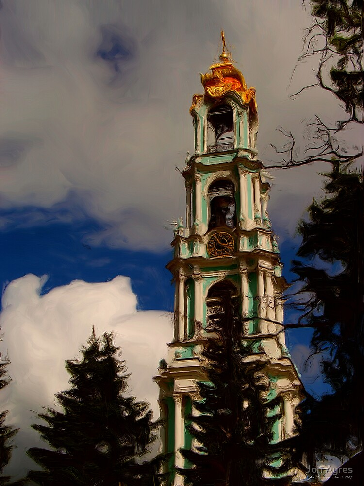 Bell tower of The Trinity Lavra of St. Sergius by Jon Ayres