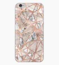 Fractured Marble Pieces Geometric Rose Gold Design iPhone Case