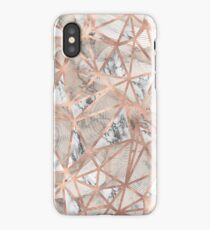 Fractured Marble Pieces Geometric Rose Gold Design iPhone Case/Skin