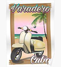Varadero Cuban vintage scooter. Poster