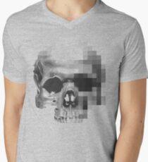 Digital Skull Mens V-Neck T-Shirt