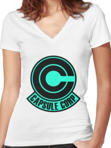 Capsule Corp  Women's Fitted V-Neck T-Shirt