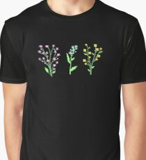 Flowers - Black Graphic T-Shirt