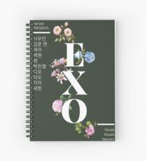 Floral EXO Spiral Notebook