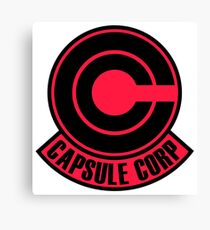 Capsule Corp Red Canvas Print