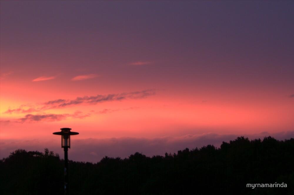 fairy sunset with lamppost by myrnamarinda
