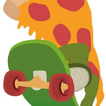 Pizza guy skateboard by caitdesign