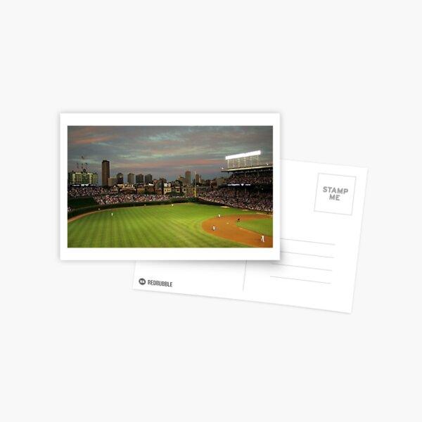 Wrigley Field at Dusk Postcard